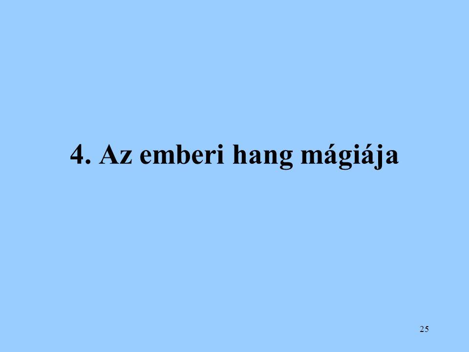 25 4. Az emberi hang mágiája