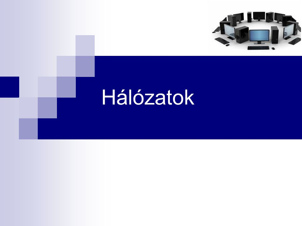 Hálózatok 22 Kapcsolódási lehetőségek  ISDN (Integrated Services Digital Network)  a hagyományos telefonos kapcsolat mellett kép, hang és adat átvitelére egyaránt alkalmas hálózati szabvány  előnye, hogy adatátvitel közben is lehet telefonálni  ADSL (Asynchron Digital Subscriber Line)  nagysebességű digitális adatátviteli technológia hagyományos vagy ISDN telefonvonalon, 384-1500 kbit/s letöltési és 64-384 kbit/s feltöltési sebességgel.