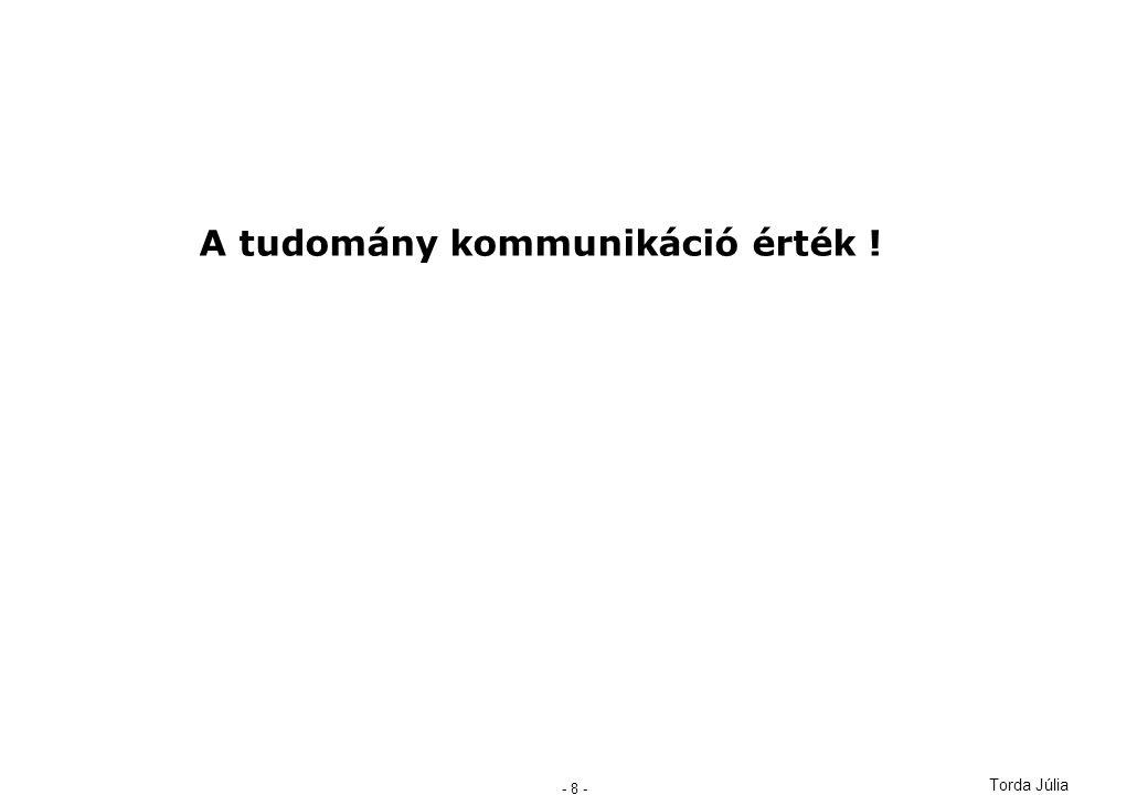 Torda Júlia - 8 - A tudomány kommunikáció érték !