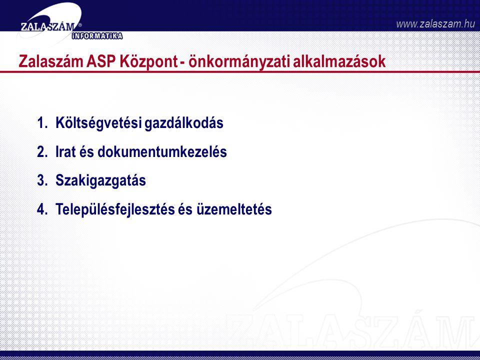 Zalaszám ASP Központ - önkormányzati alkalmazások 1.