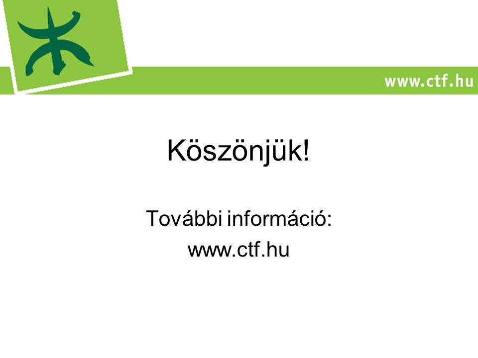 Köszönjük! További információ: www.ctf.hu