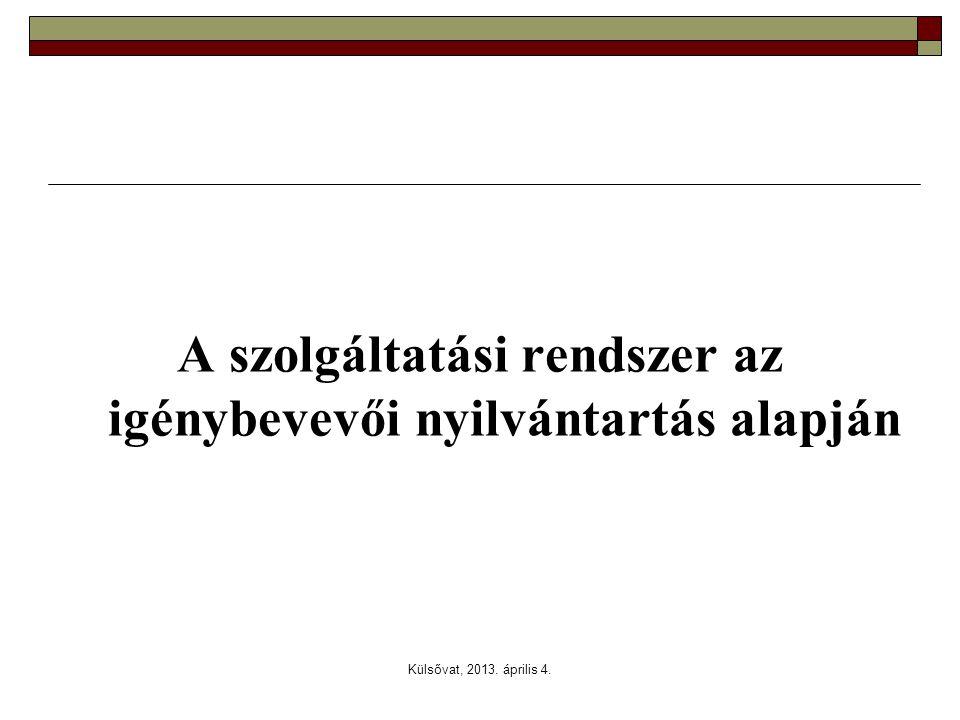 Külsővat, 2013. április 4. A szolgáltatási rendszer az igénybevevői nyilvántartás alapján