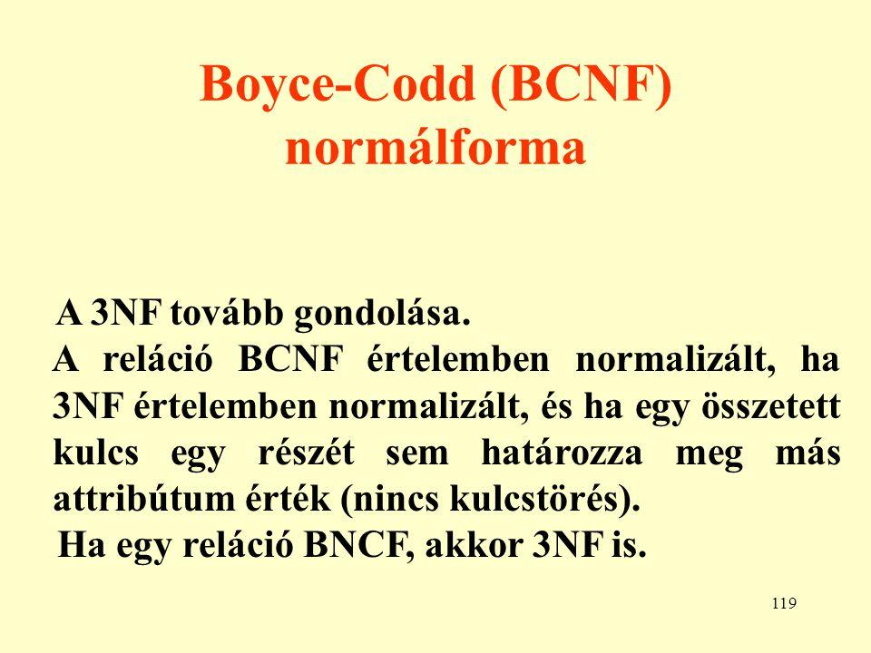 120 Példa BCNF normálformára 1.