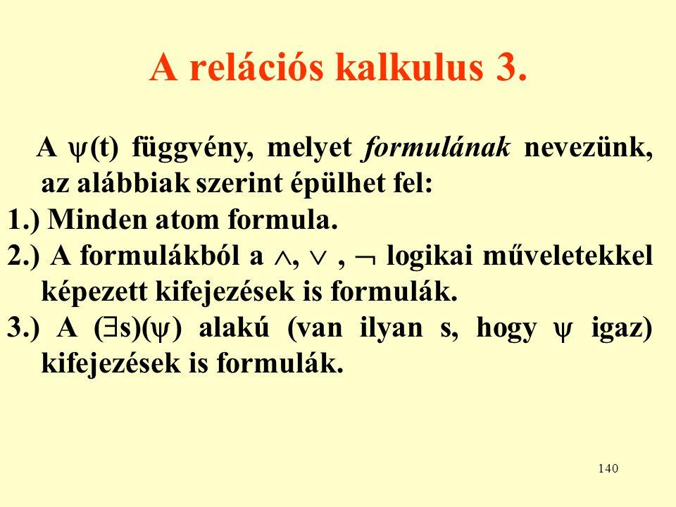 141 A relációs kalkulus 4.