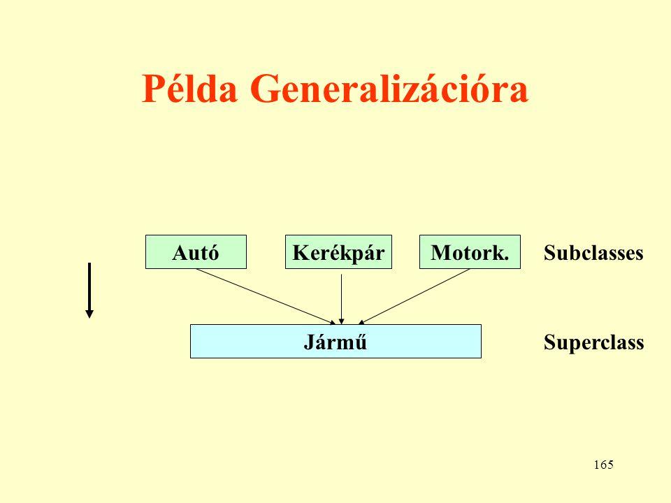 166 Kategória Rt.SzemélyKft.Tulajdonos Kategória az a subclass, melynek több superclass- a van.