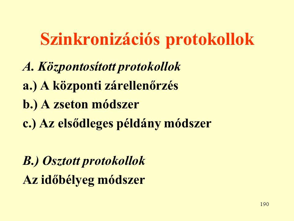191 Adatvédelem a.) Fizikai védelem b.) Ügyviteli védelem c.) Algoritmikus védelem