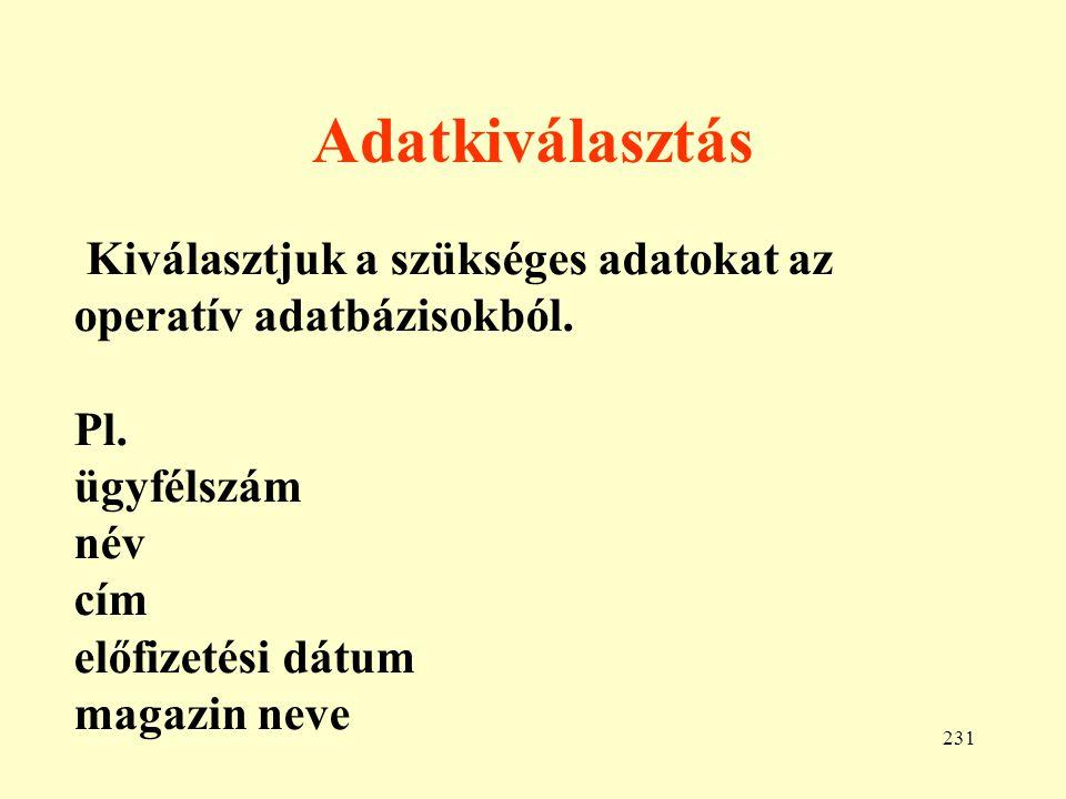 232 Tisztítás • Véletlen kettőződések • Név elírások (Kotsis, Kocsis, Kotsits) • Kitöltés hiánya (alapértelmezés)