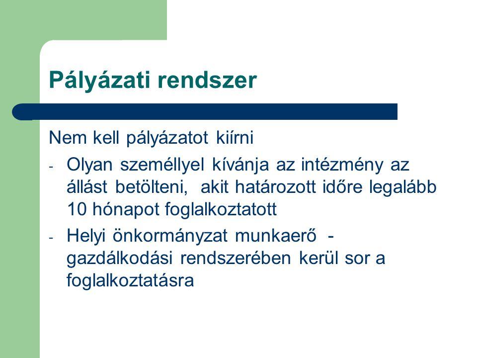 Pályázati rendszer Eljárási szabályok (2008.január 1-től) HOL.