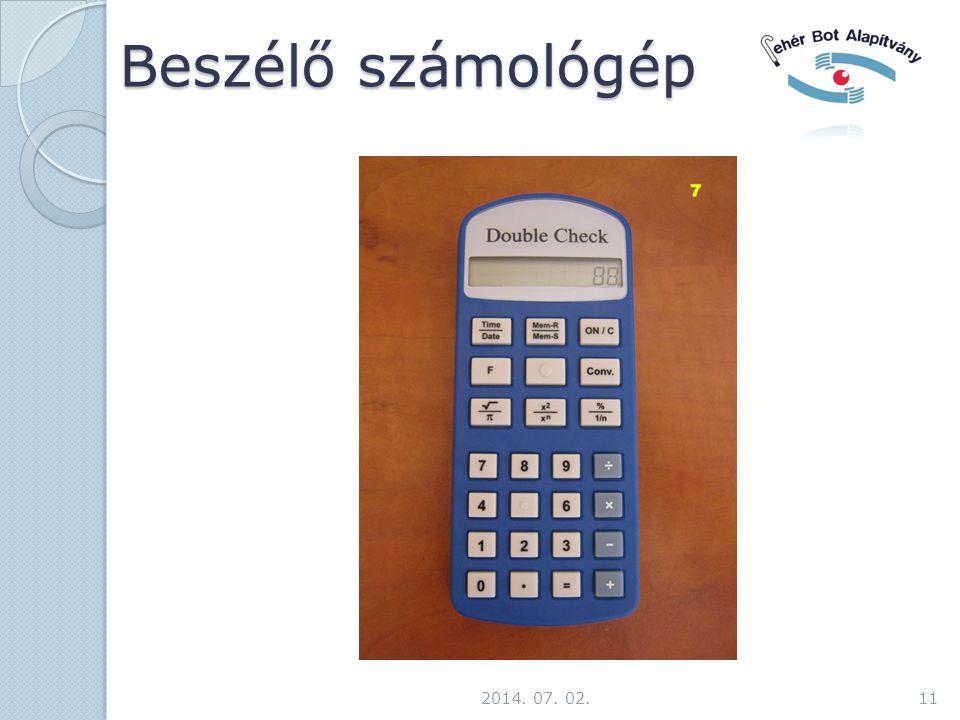 Beszélő számológép 2014. 07. 02.11