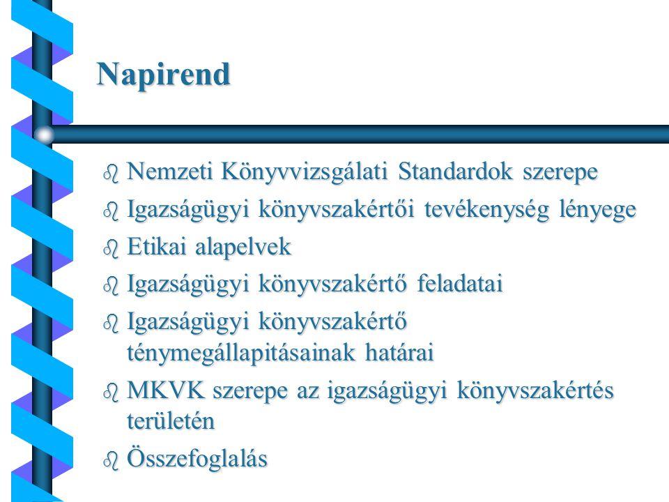 b Nemzetközi Könyvvizsgálati Standardok b magyar Nemzeti Könyvvizsgálati Standardok b magyar Nemzeti Könyvvizsgálati Standardokhoz kapcsolódó módszertani útmutatók b kisvállalkozások könyvvizsgálatának speciális szempontjai b államháztartás szervezetei könyvvizsgálatának speciális szempontjai b könyvvizsgálói vállalkozások (könyvvizsgálók) könyvvizsgálati munkájának saját előírásai A magyar Nemzeti Könyvvizsgálati Standardok szerepe