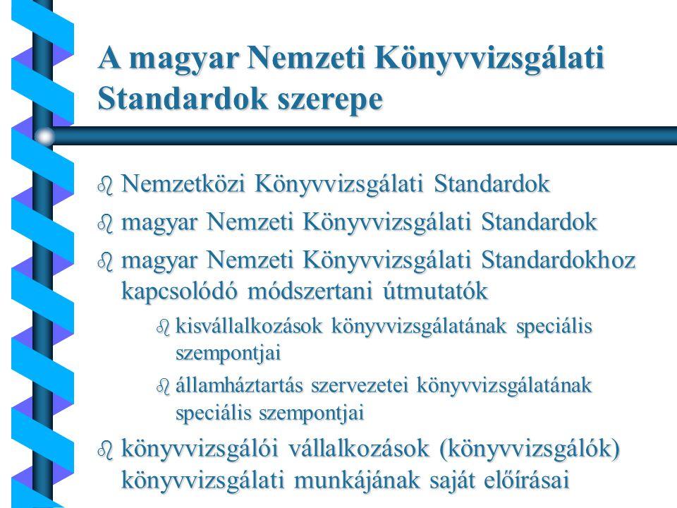 Igazságügyi könyvszakértői tevékenység helye a magyar Nemzeti Könyvvizsgálati Standardokban 920.