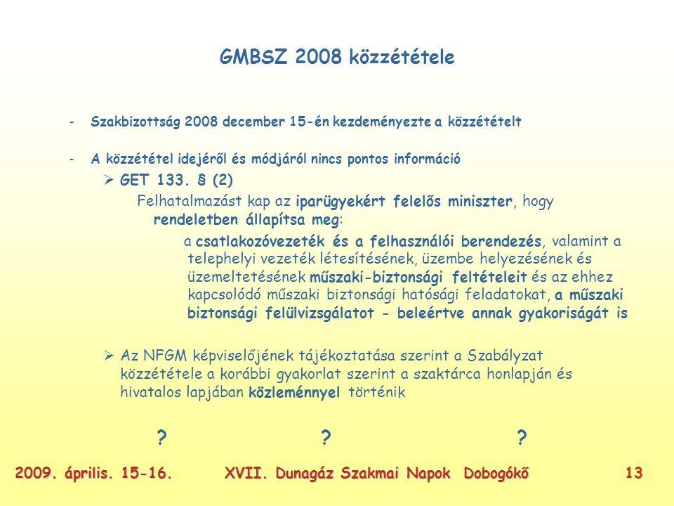 XVII. Dunagáz Szakmai Napok Dobogókő132009. április.