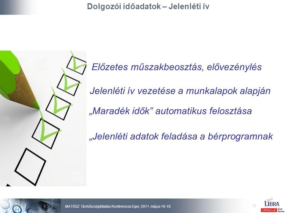 11 MATÁSZ Távhőszolgáltatási Konferencia Eger, 2011.