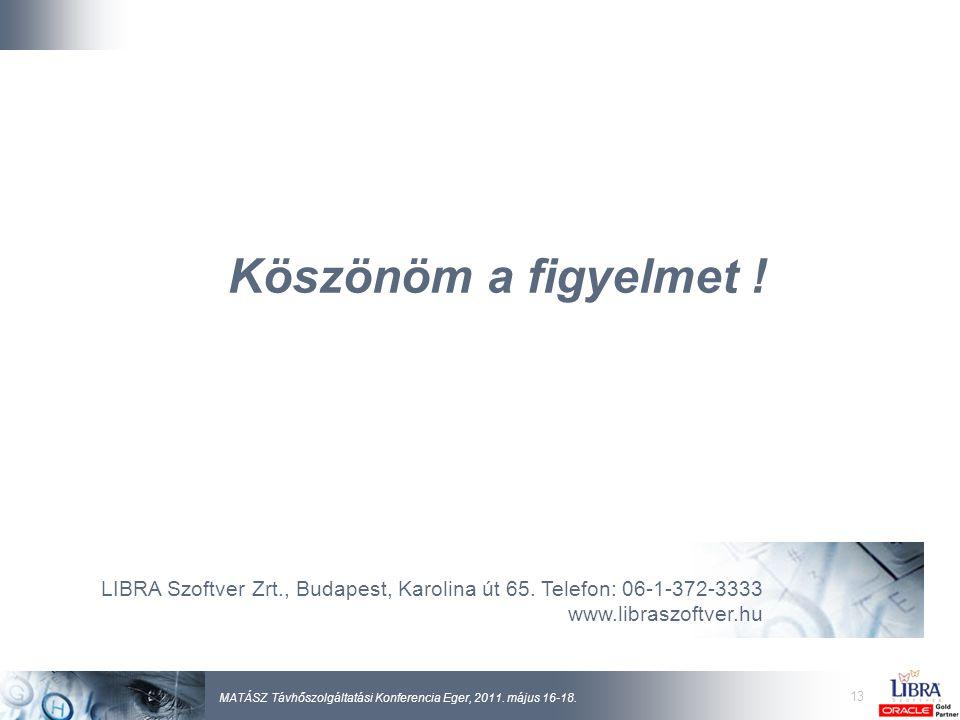 13 MATÁSZ Távhőszolgáltatási Konferencia Eger, 2011.
