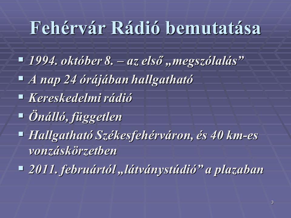 3 Fehérvár Rádió bemutatása  1994. október 8.