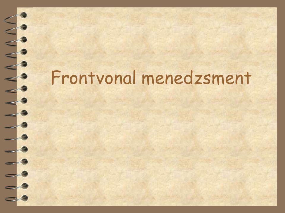 A frontszemélyzettel szembeni követelmények/3 4 tervezési képesség 4 terhelhetőség 4 helyzetelemző képesség 4 igényesség