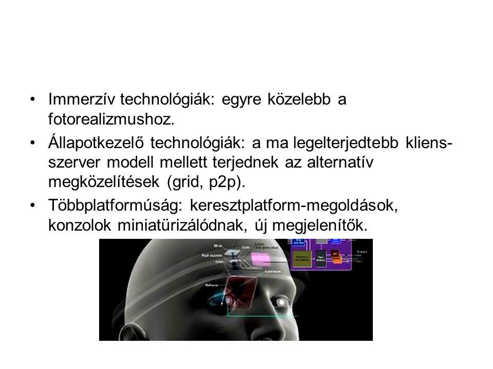 •Immerzív technológiák: egyre közelebb a fotorealizmushoz.