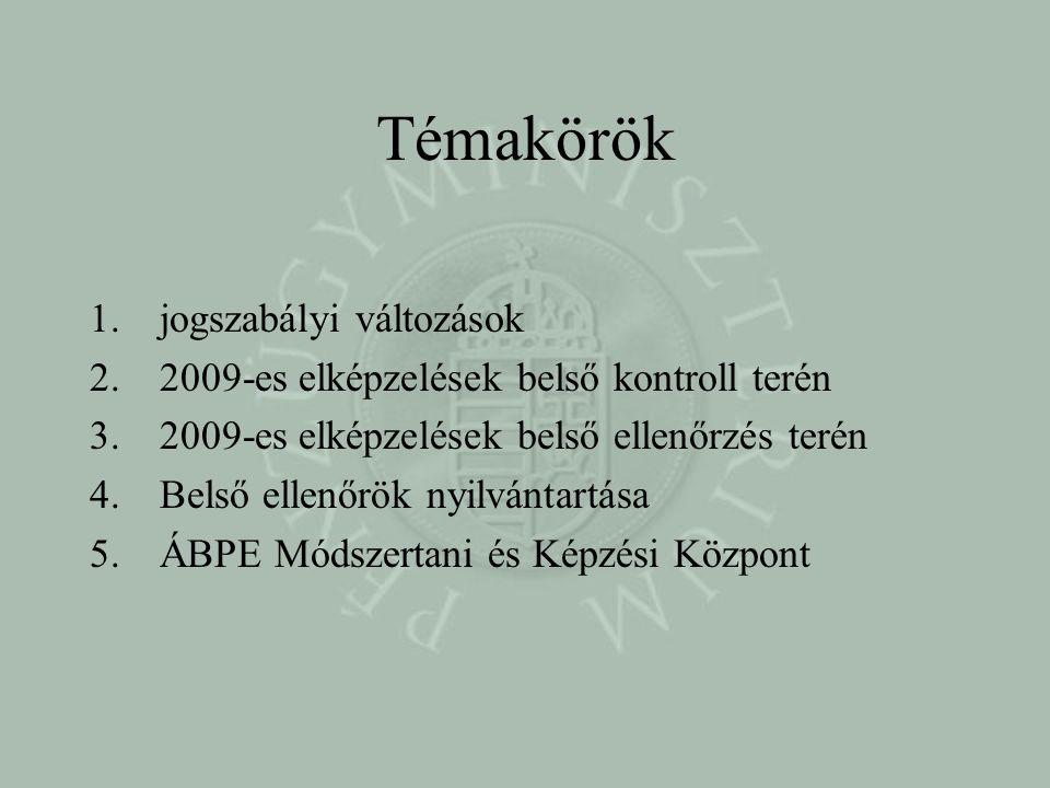 Jogszabályi változások Áht.két módosítása: 1.2009.