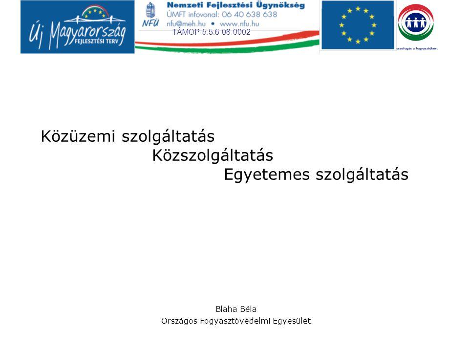 TÁMOP 5.5.6-08-0002 Közüzemi szolgáltatás – Közszolgáltatás A közüzem fogalmi meghatározásában, a közüzem fogalmának használatában igen nagy a bizonytalanság a magyar szakirodalomban és a magyar jogrendszerben, a jogszabályokban, jogalkalmazásban egyaránt.