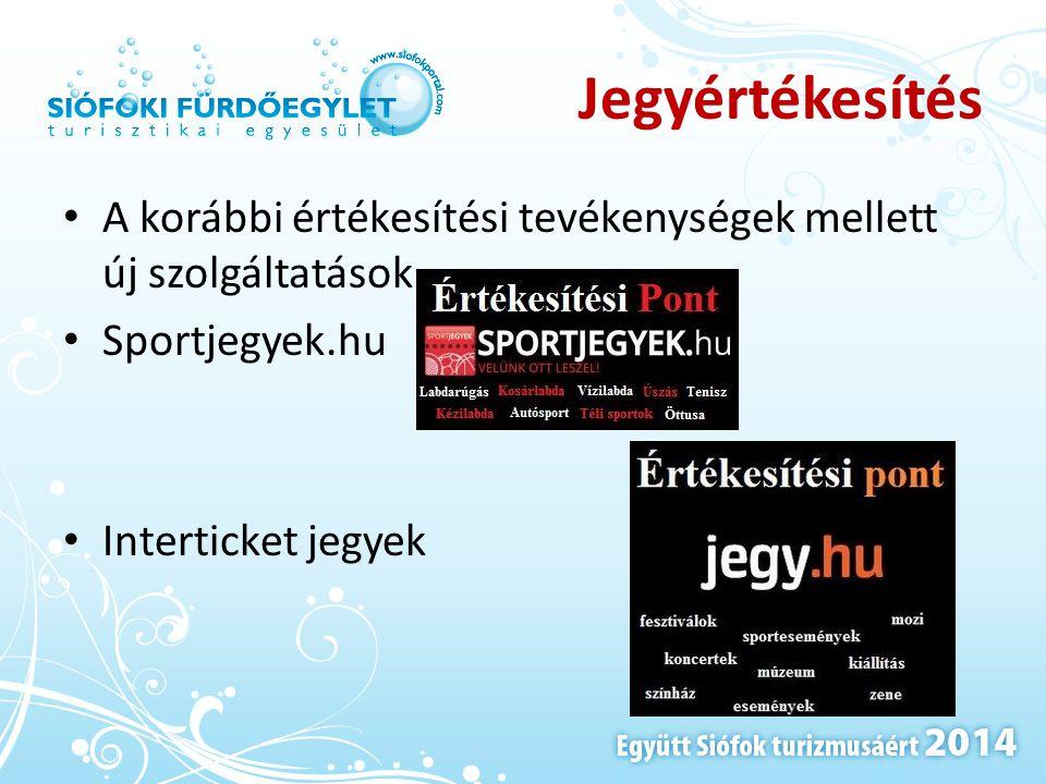 Jegyértékesítés • A korábbi értékesítési tevékenységek mellett új szolgáltatások • Sportjegyek.hu • Interticket jegyek