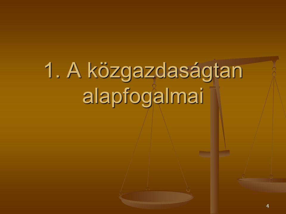 24 1.5.A közgazdaságtan tárgya és alapkérdései.