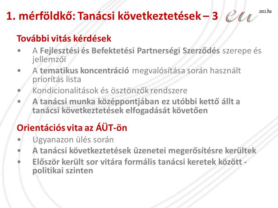 Háttér •Budapest, Március 31 – Április 1., több, mint 150 résztvevő (tagállami, bizottsági szakértők) •A kohéziós politika fontossága került kihangsúlyozásra •Vita a kulcskérdésekről (tematikus koncentráció éseredmény- orientált megközelítés) és közös értelmezés keresése •továbbá: az integrált megközelítés szükségességének kihangsúlyozása és új módszertanok bemutatása: LHH - magyar jó gyakorlat a helyi integrált fejlesztési programra.