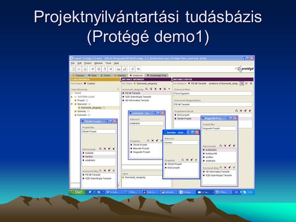 Projektnyilvántartási tudásbázis (Protégé demo1)