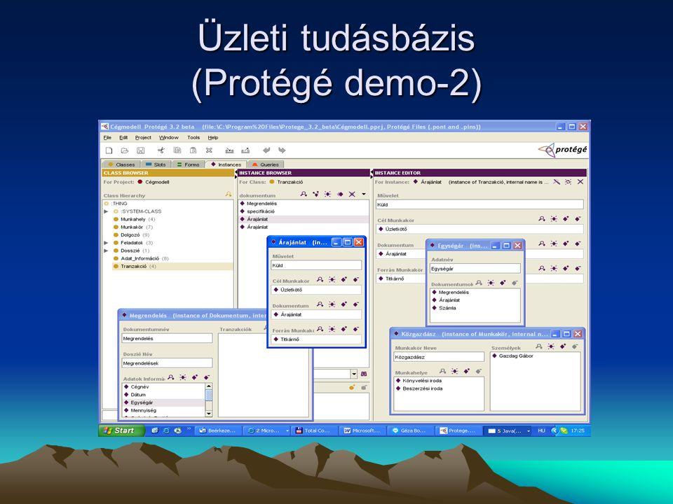 Üzleti tudásbázis (Protégé demo-2)