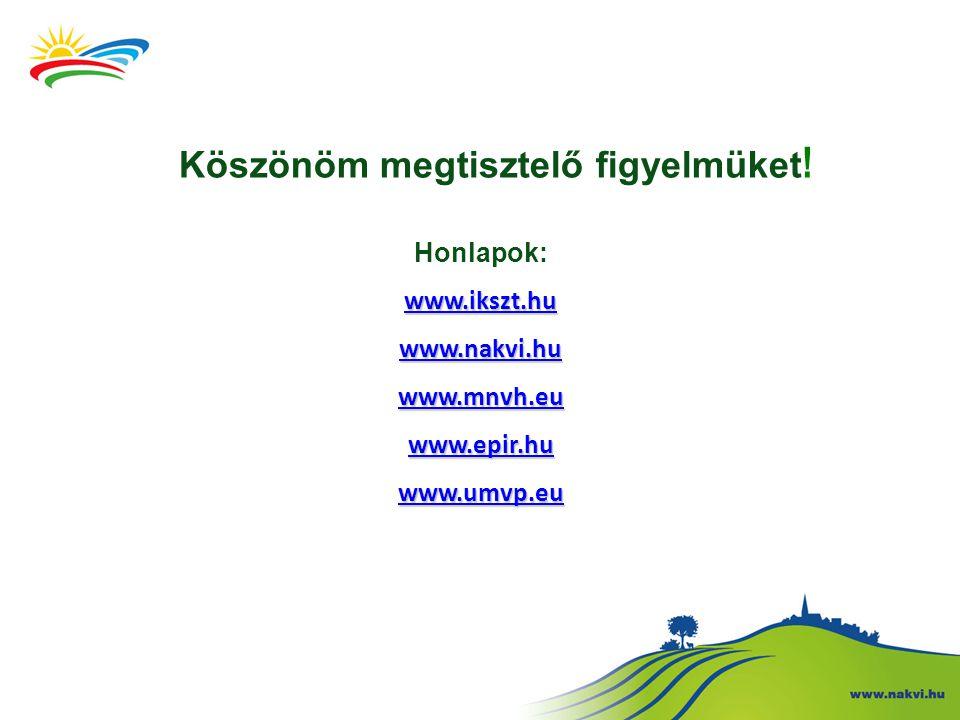 Köszönöm megtisztelő figyelmüket ! Honlapok: www.ikszt.hu www.nakvi.hu www.mnvh.eu www.epir.hu www.umvp.eu