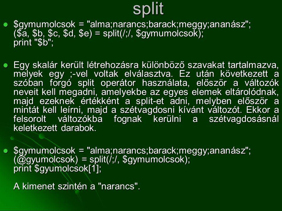 split  $gymumolcsok =