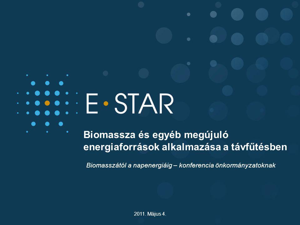 Biomassza és egyéb megújuló energiaforrások alkalmazása a távfűtésben Biomasszától a napenergiáig – konferencia önkormányzatoknak 2011. Május 4.