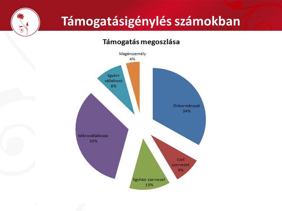 Támogatásigénylés számokban