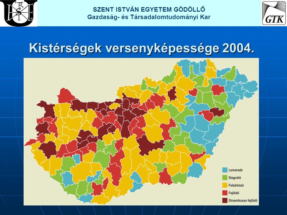 Kistérségek versenyképessége 2004. SZENT ISTVÁN EGYETEM GÖDÖLLŐ Gazdaság- és Társadalomtudományi Kar