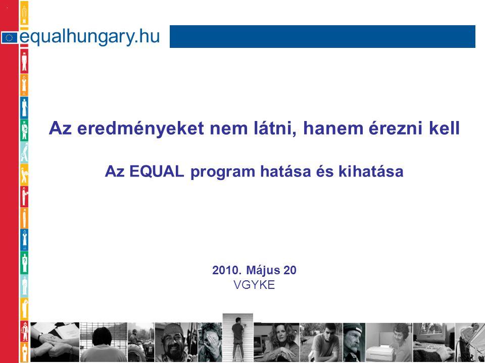 Az eredményeket nem látni, hanem érezni kell Az EQUAL program hatása és kihatása 2010.