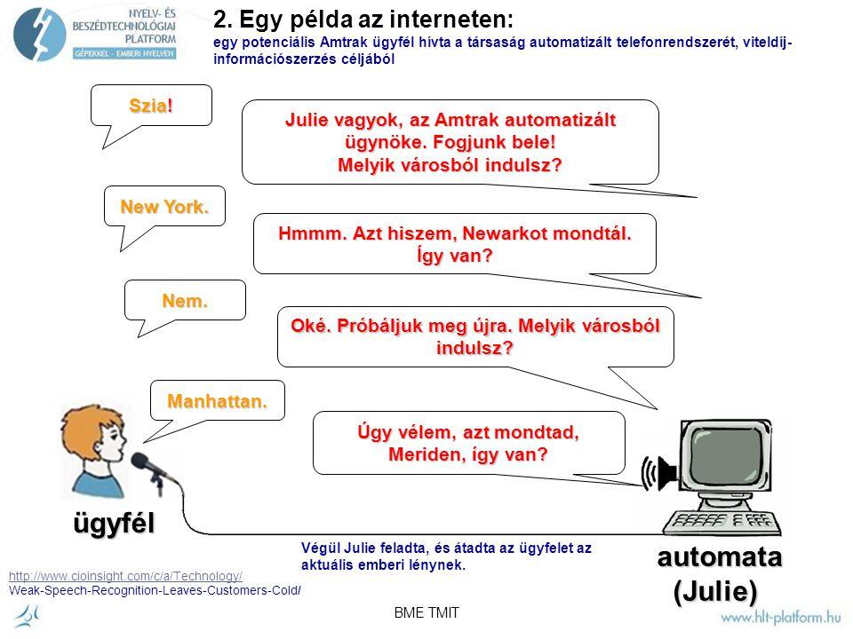 BME TMIT Két különböző információ az internetről: 1.