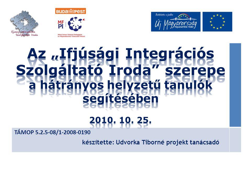 TÁMOP 5.2.5-08/1-2008-0190 készítette: Udvorka Tiborné projekt tanácsadó