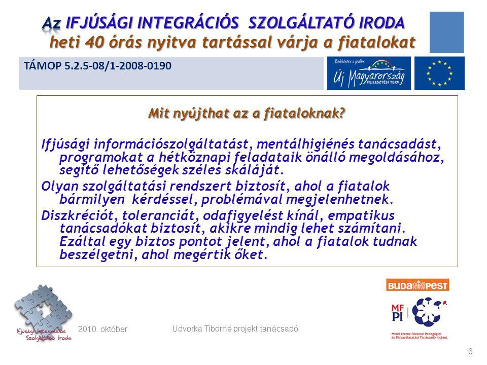 Az IRODA nyitva tartási rendje: A hét mind az öt munkanapján (heti 40 órában): hétfő: 9-17 kedd: 8-16 szerda: 8-18 csütörtök: 9-17 péntek: 8-14 2010.