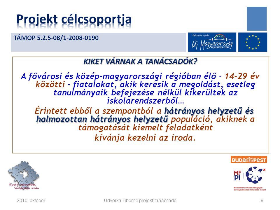 KIKET VÁRNAK A TANÁCSADÓK? A fővárosi és közép-magyarországi régióban élő - 14-29 év közötti - fiatalokat, akik keresik a megoldást, esetleg tanulmány