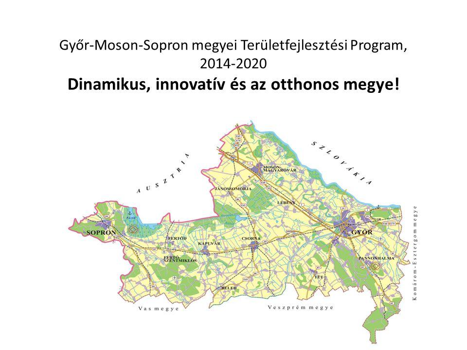 Győr-Moson-Sopron megyei Területfejlesztési Program, 2014-2020 Dinamikus, innovatív és az otthonos megye! Prof. Dr. Rechnitzer János Egyetemi tanár Ve