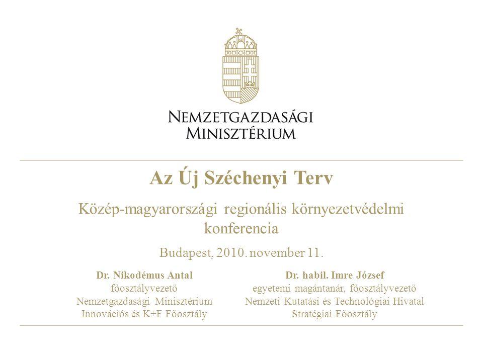 Az Új Széchenyi Terv Közép-magyarországi regionális környezetvédelmi konferencia Budapest, 2010.
