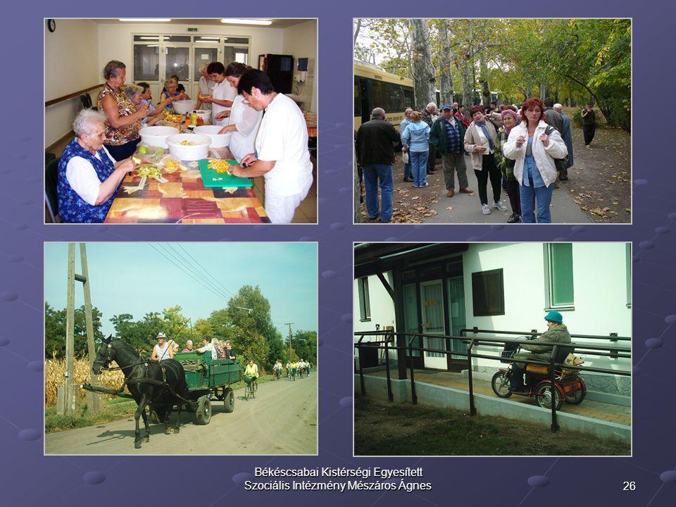 26 Békéscsabai Kistérségi Egyesített Szociális Intézmény Mészáros Ágnes