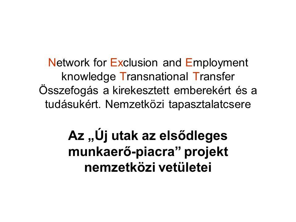 Network for Exclusion and Employment knowledge Transnational Transfer Összefogás a kirekesztett emberekért és a tudásukért. Nemzetközi tapasztalatcser