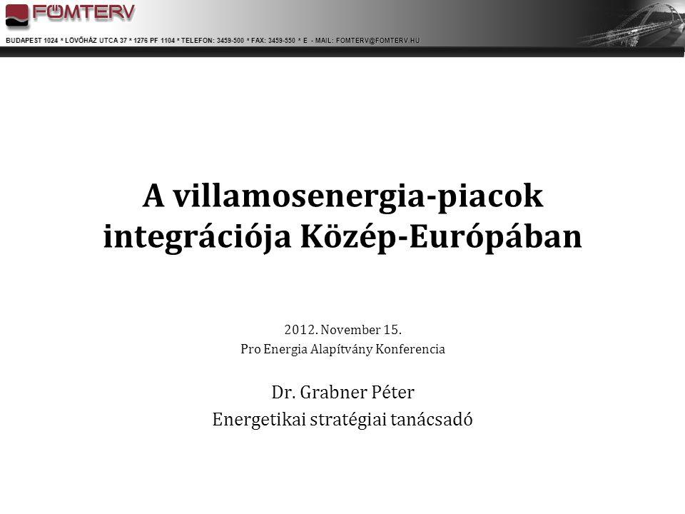"""BUDAPEST 1024 * LÖVŐHÁZ UTCA 37 * 1276 PF 1104 * TELEFON: 3459-500 * FAX: 3459-550 * E - MAIL: FOMTERV@FOMTERV.HU """"Budapest, 2012."""