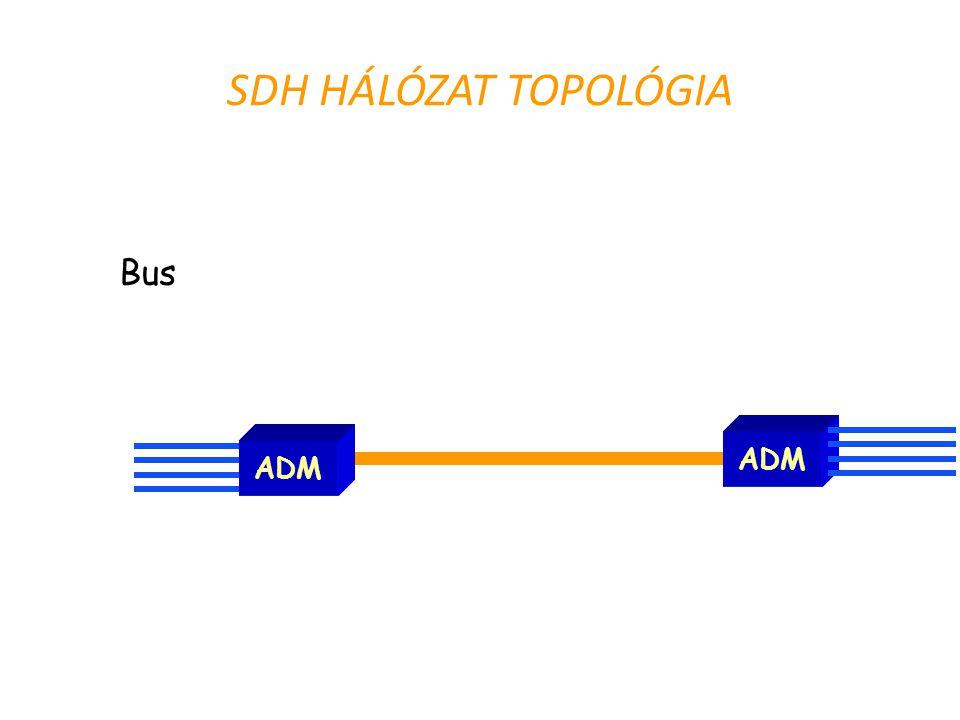 SDH HÁLÓZAT TOPOLÓGIA ADM Bus