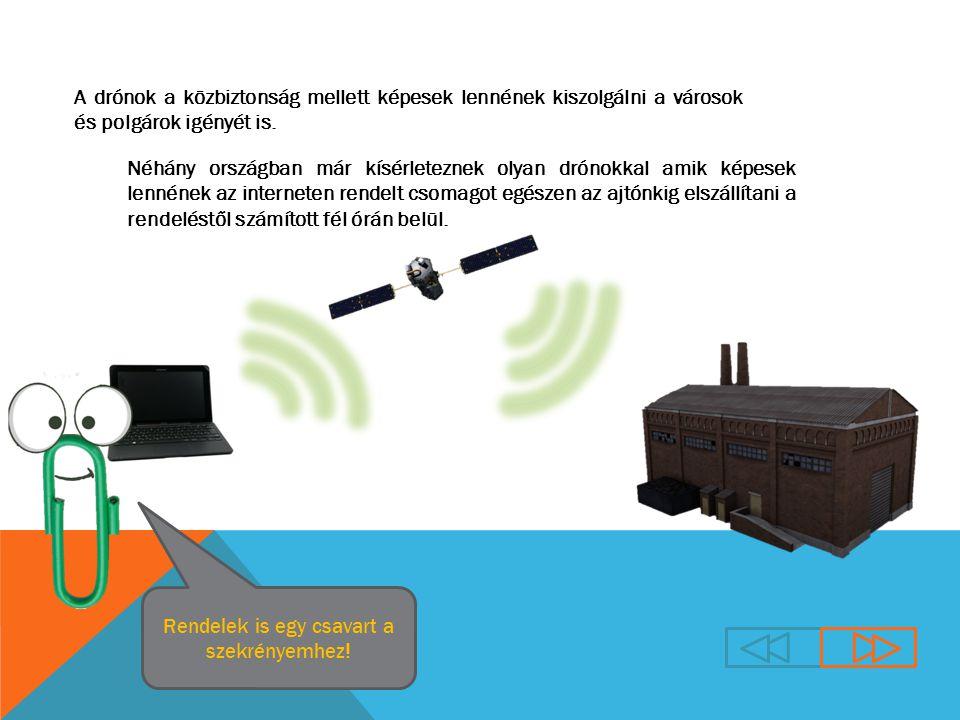 A drónok a közbiztonság mellett képesek lennének kiszolgálni a városok és polgárok igényét is.