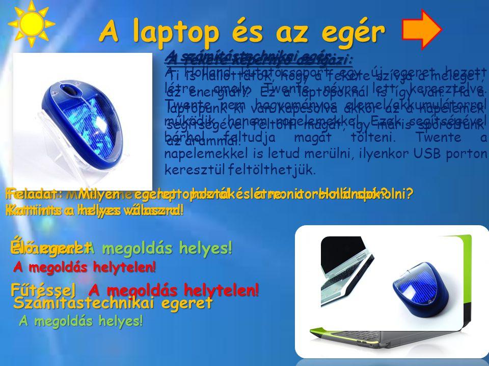 A laptop és az egér A fekete képernyő az igazi: Ti is hallottátok, hogy a fekete szívja a meleget, az energiát!? Ez a laptopoknál is így van. Ha a lap