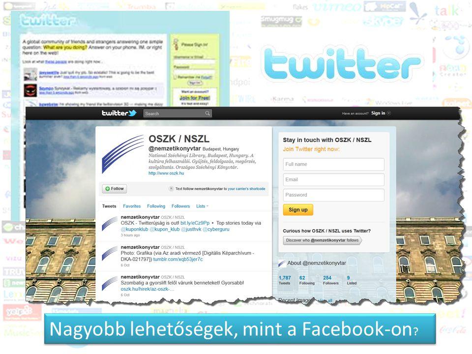Közösségi média és a könyvtár Trendek 2011-2012 Nagyobb lehetőségek, mint a Facebook-on ?