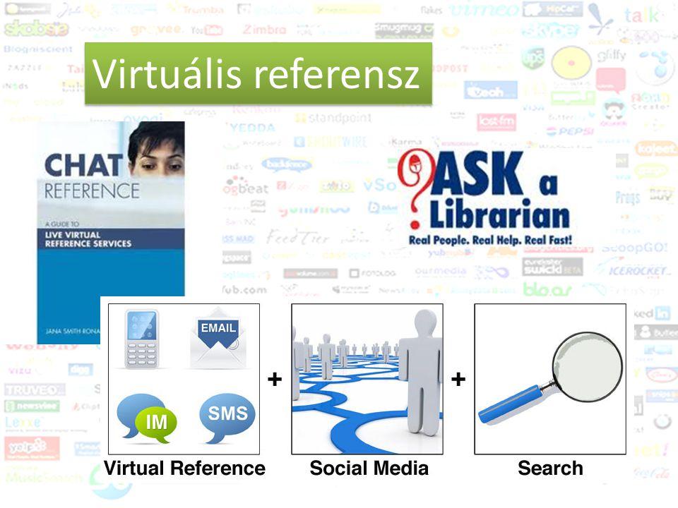 Közösségi média és a könyvtár Trendek 2011-2012 Virtuális referensz