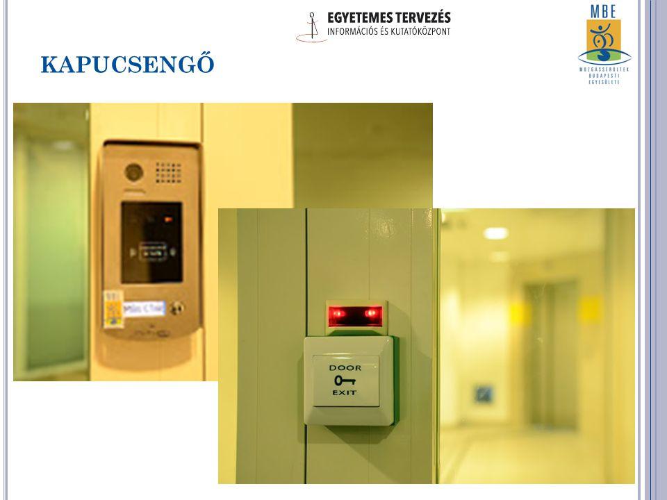 Jelzőrendszerek: kaputelefon, ajtócsengést és nyitást jelző hang és fény Ergonomikus, guruló, állítható bútorok (székek, asztalok, polcok, lábtartók) Kommunikációs eszközök: iphone, hanggal, fénnyel, rezgéssel jelző telefonok, indukciós hurok, orientációt segítő színek Számítógép használatot segítő eszközök: speciális egér, kontrasztos billentyűzet, nagy méretű képernyő I RODA EGYETEMES TERVEZÉS SZERINT Jellemzők: