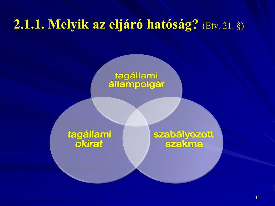 2.1.1. Melyik az eljáró hatóság? (Etv. 21. §) 6